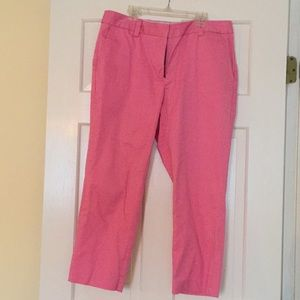 Lands End cropped pink pants